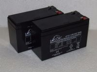 2x Leoch LP12-7.0S - 12v 7ah Alarm Batteries